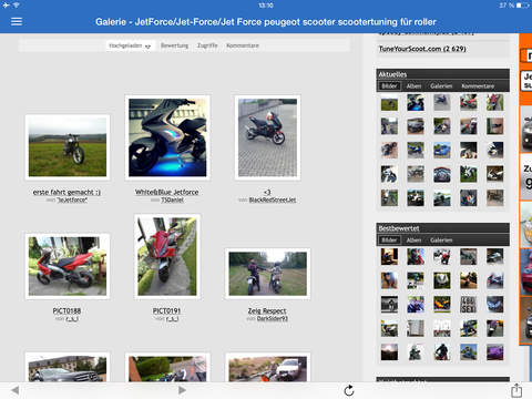 Jet-Force.eu Scootertuning App screenshot 4