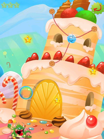 Rope Castle : The Monster Cut Candy screenshot 9