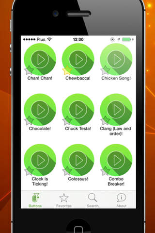 OMG! Button! - Soundboard App - náhled
