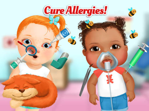 Sweet Baby Girl Kids Hospital 2 – Allergy Emergency, Broken Leg, Dentist Office and Ear Doctor screenshot 7