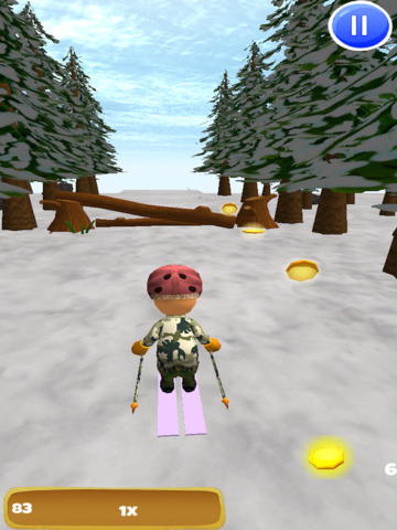 A Downhill Snow Skier: 3D Mountain Skiing Game - FREE Edition screenshot 8