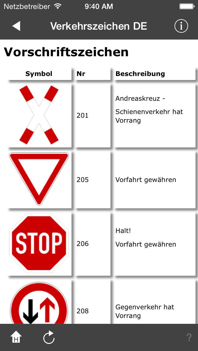 Verkehrszeichen DE screenshot 3