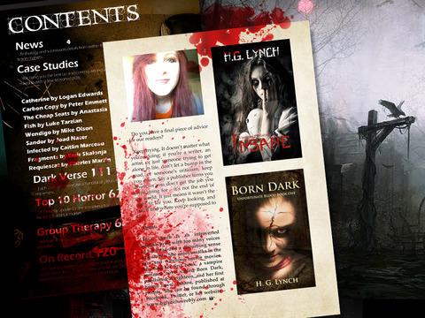 Sanitarium Magazine: Horror Fiction, Dark verse and Macabre Entertainment screenshot 7