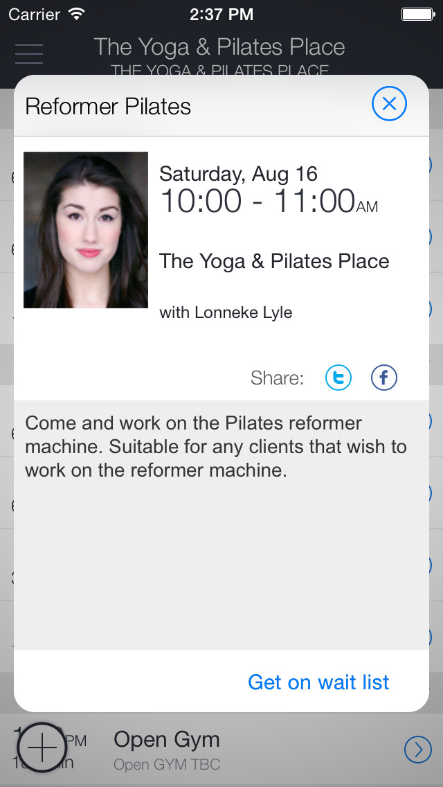 The Yoga and Pilates Place screenshot 2
