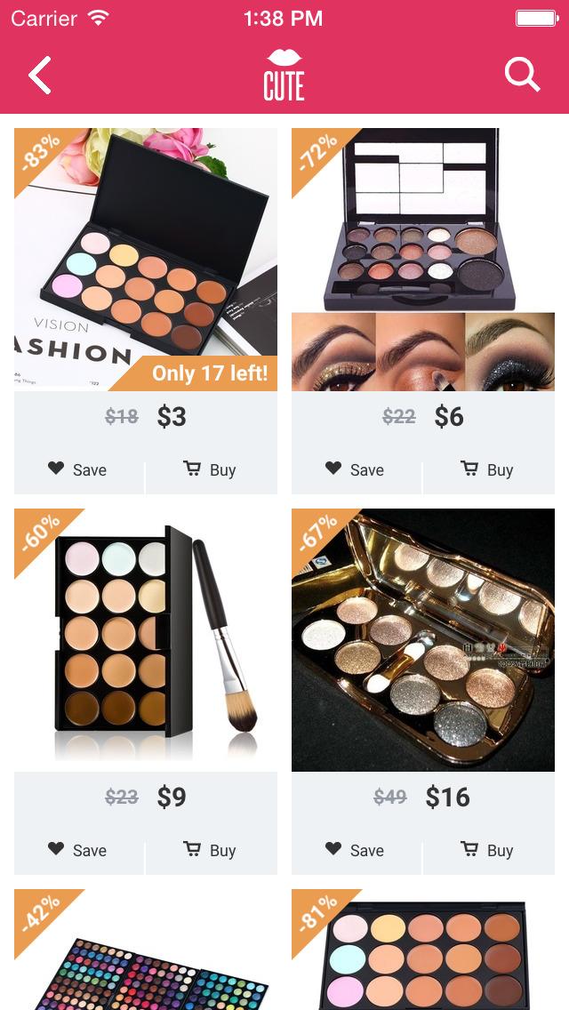 Cute - Beauty Shopping screenshot 4