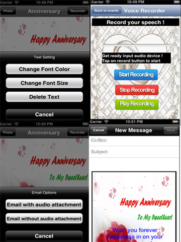 The Ultimate Anniversary eCards with Photo Editor.Customize and send anniversary eCards with text and voice greeting messages screenshot 9