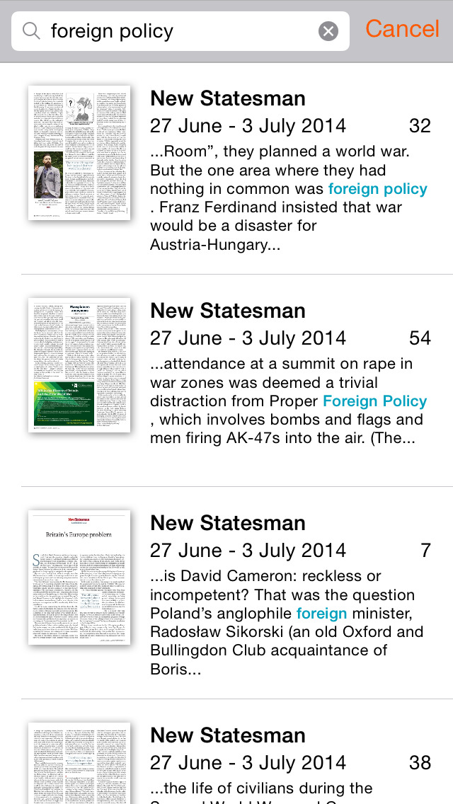 New Statesman & Archive screenshot 4