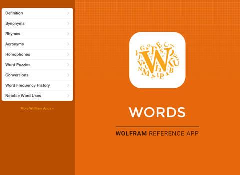 Wolfram Words Reference App screenshot 6
