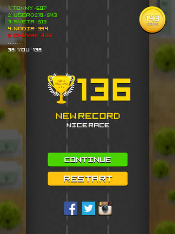 Pixel Traffic - best one tap 8 bit style game screenshot 8