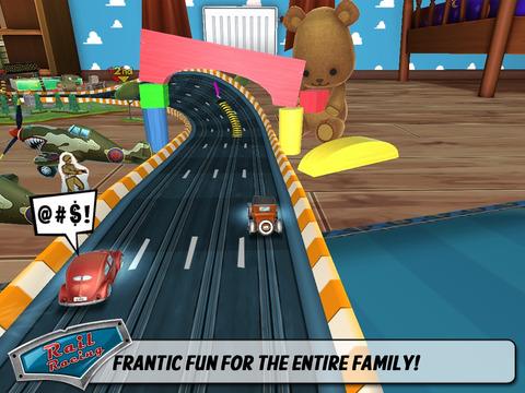 Rail Racing Free screenshot #1