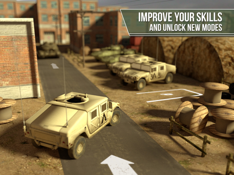 3D Trucker Simulator Free - Army Tank, Truck and Plane Parking Game screenshot 9