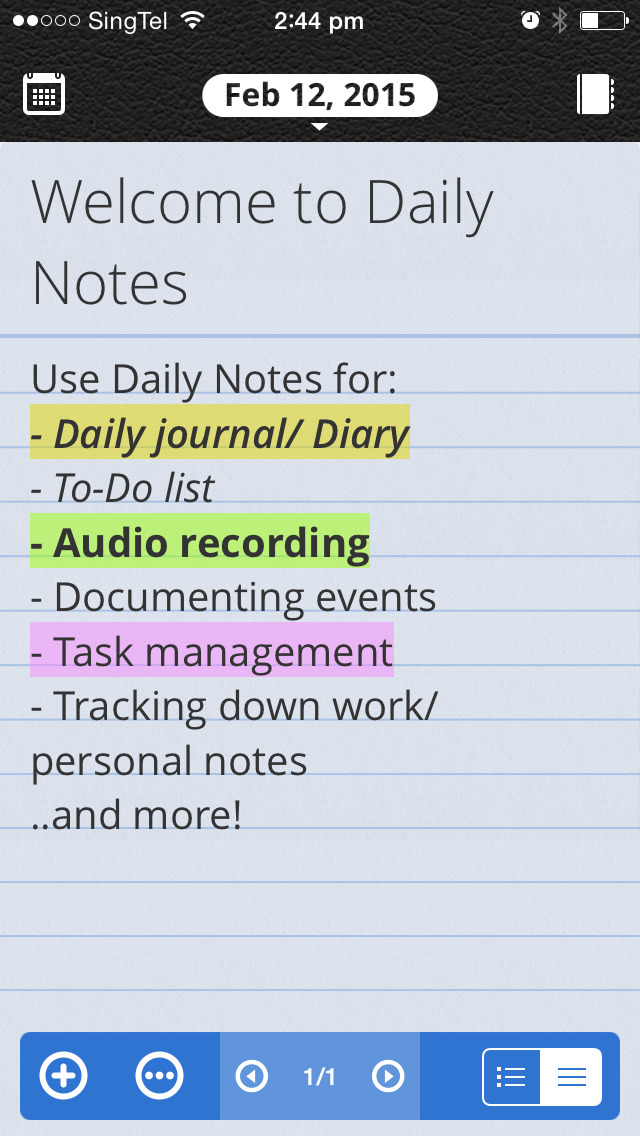Daily Notes for SECTOR - Daily Journal, Voice Recorder, Reminder screenshot 1