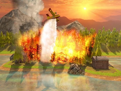 Airplane Firefighter Simulator PRO - Full 3D Fire & Rescue Firefighting Version screenshot 7