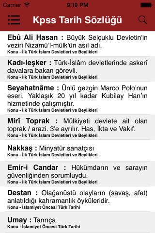 KPSS Tarih Sözlüğü - náhled