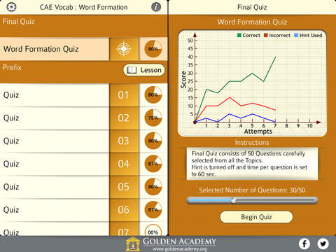 English Certified : CAE Vocabulary - Word Formation screenshot 7