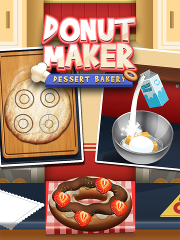 Awesome Donut Ice Cream Cake Breakfast Shop Maker screenshot 6