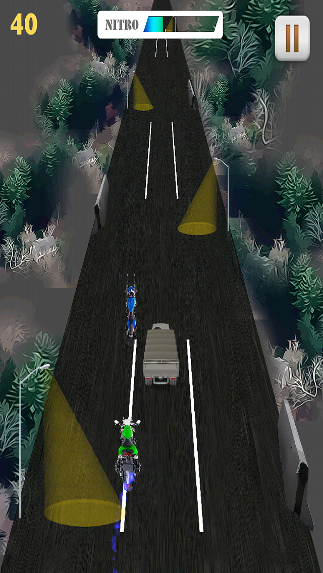 Motor Bike Night Rally Pro - Nitro Boost screenshot 5