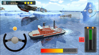 3D Icebreaker Parking PRO - Full Boat Driving Simulation Race Version screenshot 3