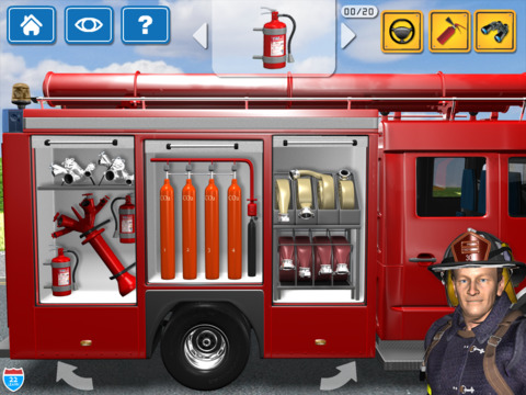 Kids Vehicles Fire Truck games screenshot 7