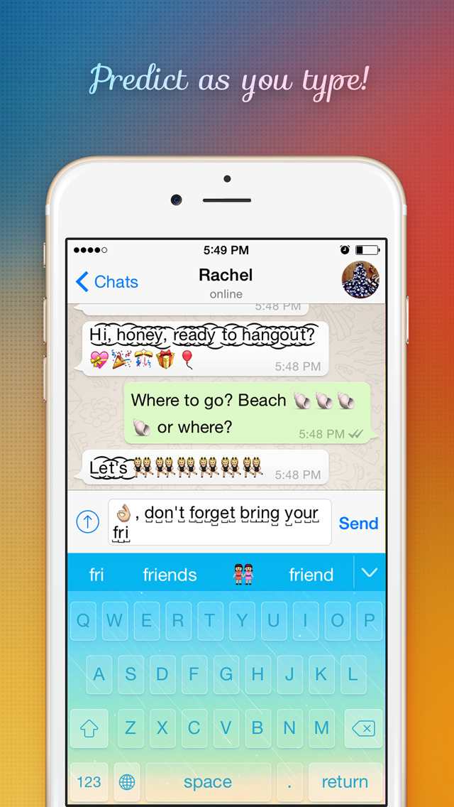 FancyKey - Customize your keyboard with cool Fonts, colorful Themes and beautiful Emoji Art screenshot 3