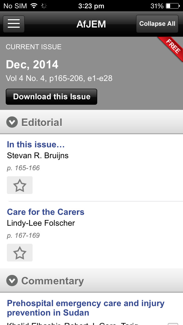 African Journal of Emergency Medicine screenshot 4