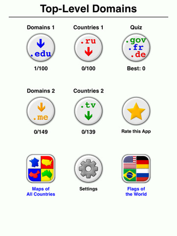 Internet Top-Level Domain Names Quiz - Generic and Country Codes screenshot 8