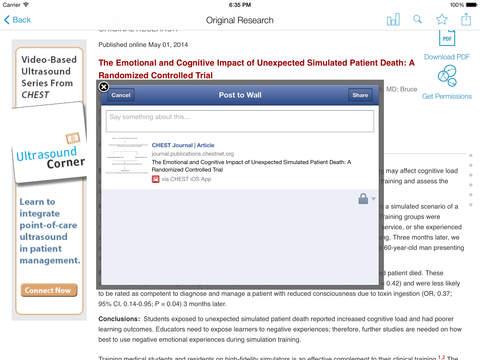CHEST Journal App screenshot 9