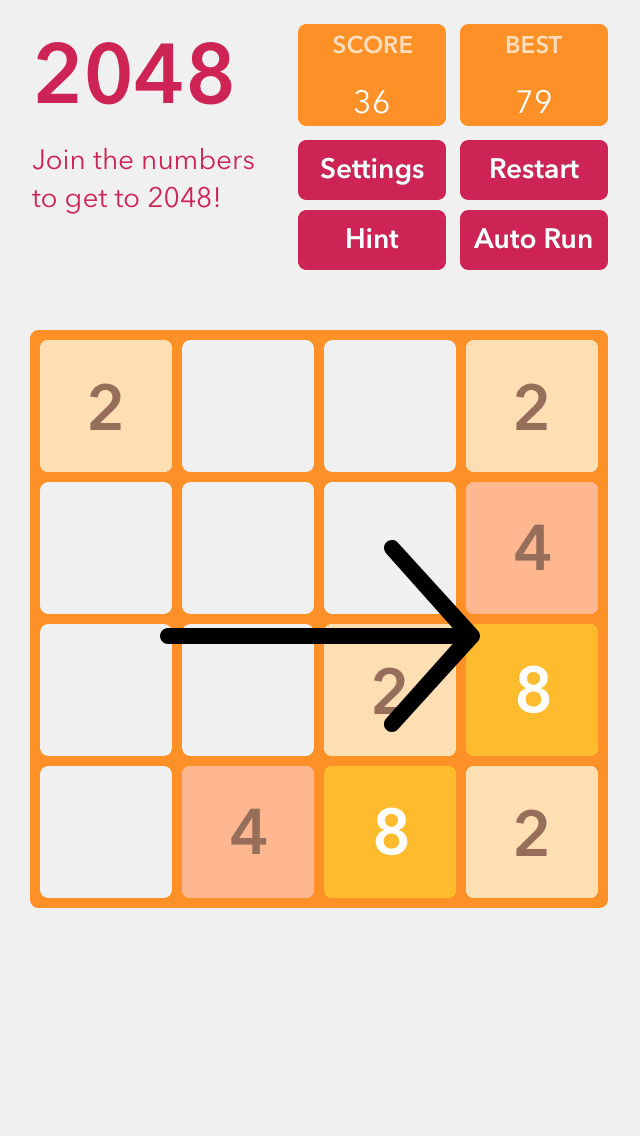 2048 Solver screenshot 2
