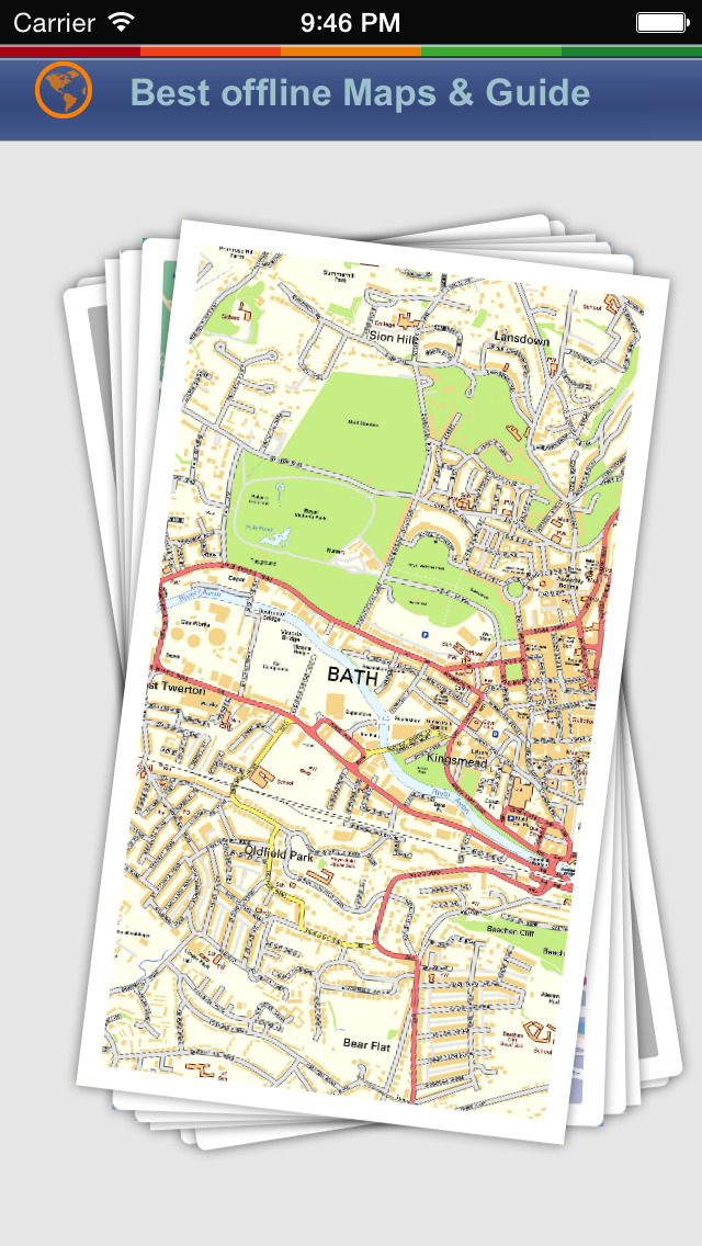 Bath Tour Guide: Best Offline Maps with Street View and Emergency Help Info screenshot 1
