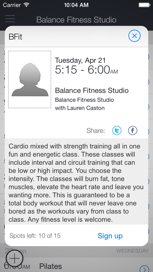 Balance Fitness Cleveland screenshot 2