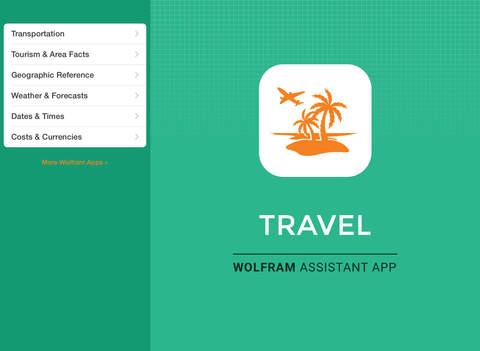 Wolfram Travel Assistant App screenshot 6