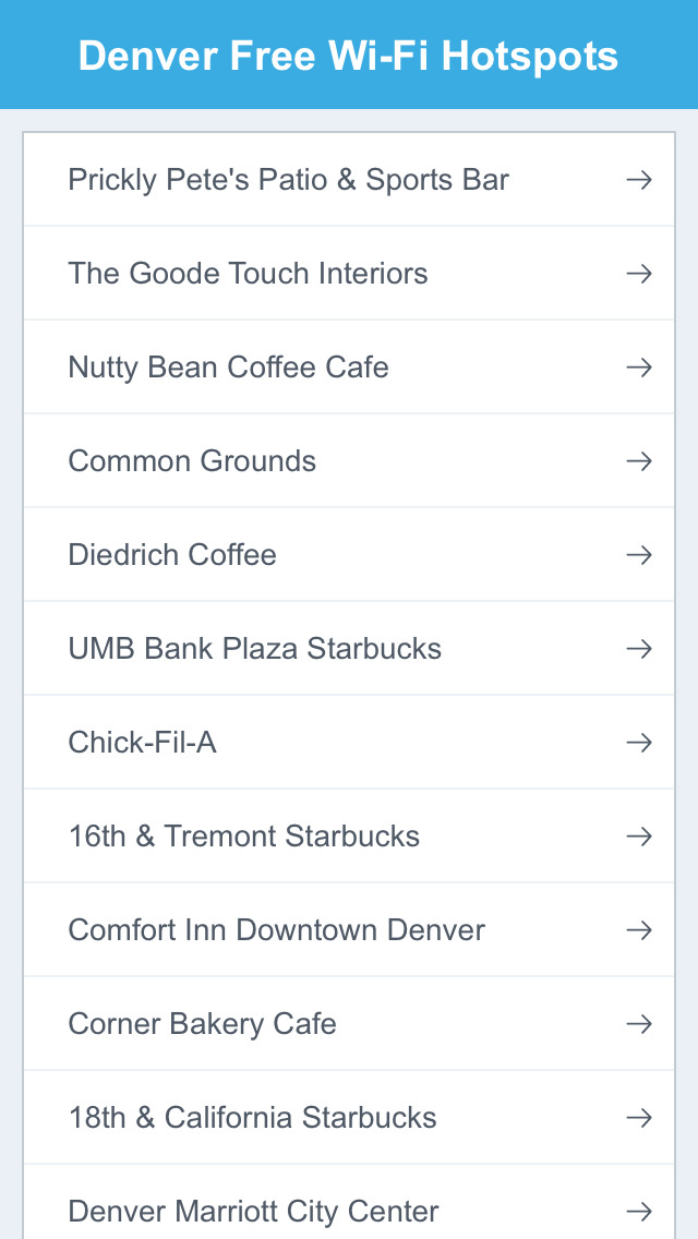 Denver City Free Wi-Fi Hotspots screenshot 2