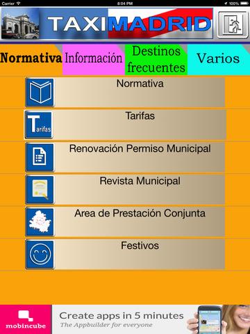 TaxiMadrid - ayuda al profesional del taxi de Madrid screenshot 8