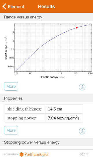 Wolfram Radiation Protection Reference App screenshot 5