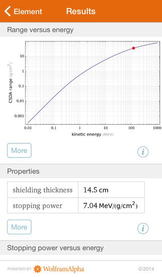 Wolfram Radiation Protection Reference App screenshot 5