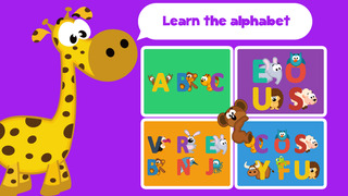 Play with Letter animals - The 1st Jigsaw Game for a toddler and a whippersnapper free screenshot 1