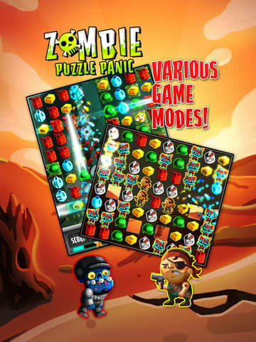 Zombie Puzzle Panic screenshot #3