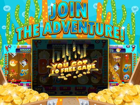 Ace Shark Slots - Fun Fish Tank Bash Vegas Slot Machine Games Free screenshot 9