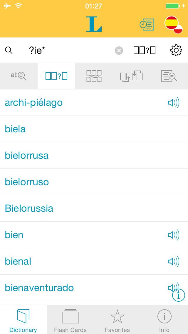 Słownik CLASSIC polsko <-> hiszpańsko screenshot 4