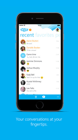 skype app for iphone skype for iphone on the app on itunes 6921
