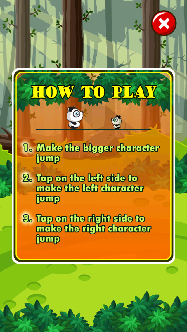Baby Panda Hop Adventure screenshot 1