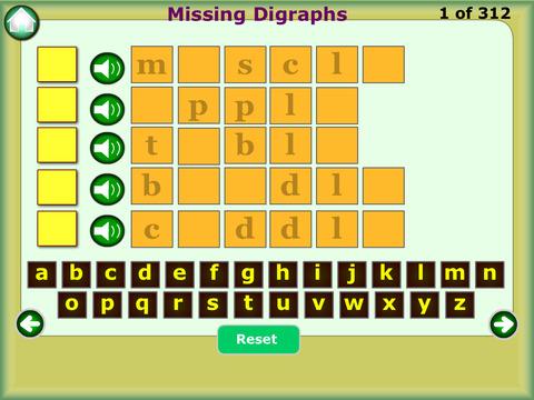 Learn Digraphs Preschool Kindergarten Reading Writing Spelling Free screenshot 8