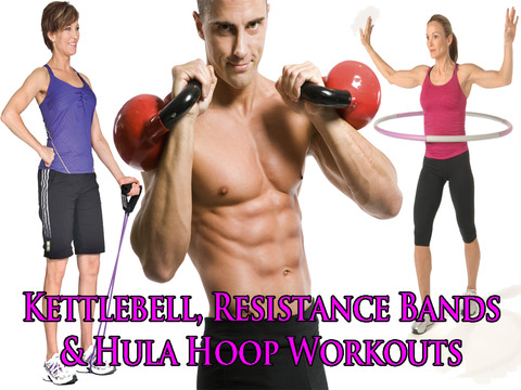 Kettlebell, Resistance Bands & Hula Hoop Workouts screenshot 6