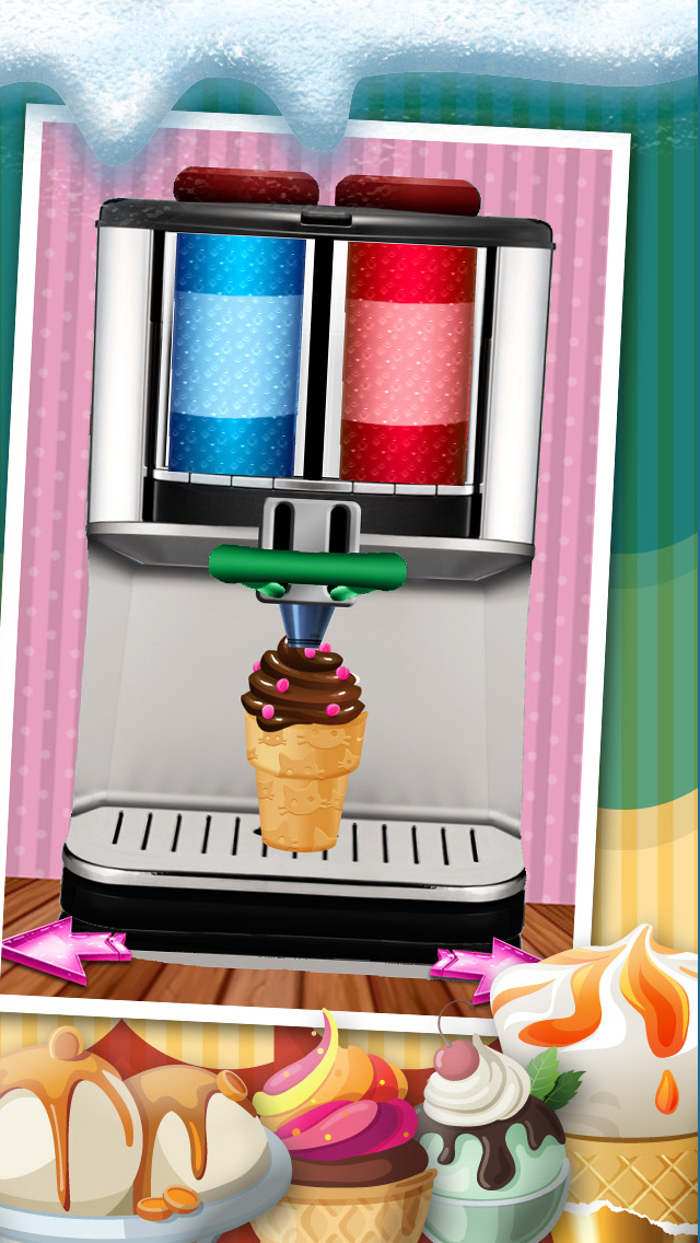 A Amazing Ice Cream Maker Game - Create Cones, Sundaes & Sweet Icy Sandwiches Shop screenshot 4