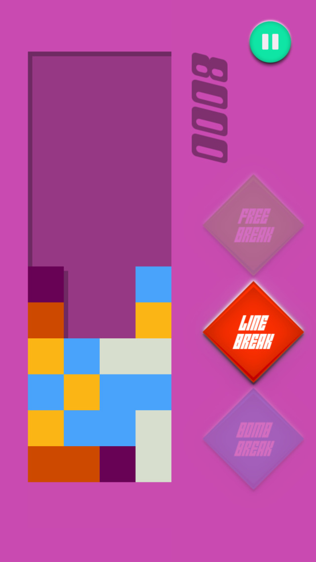 Crack & Pop Tile - Connect And Match Three Square Colors screenshot 1