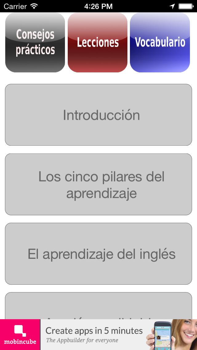 Inglés fundamental screenshot 5