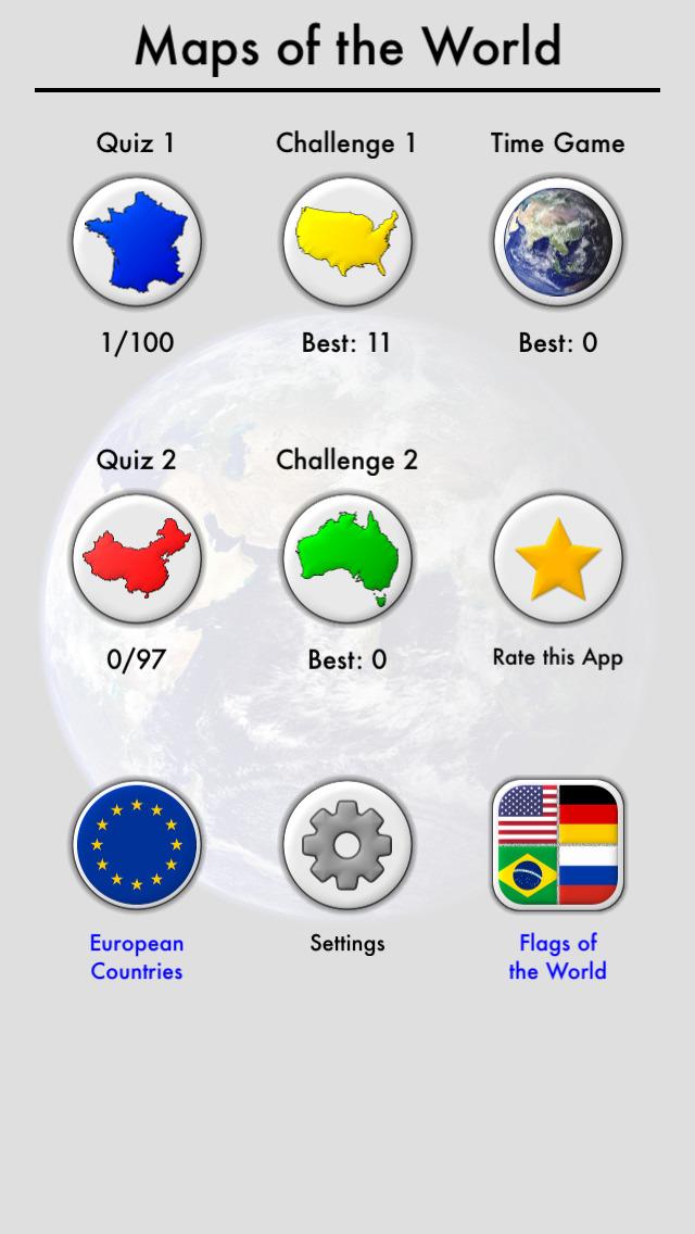 Maps of All Countries Geo-Quiz screenshot 3