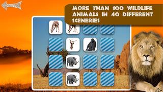 Free Memo Game Wild Animals Photo screenshot 5