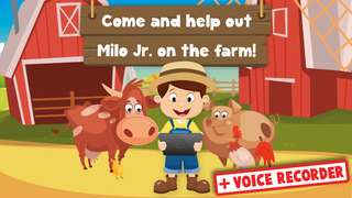 Milo's Free Mini Games for a wippersnapper - Barn and Farm Animals Cartoon screenshot 1