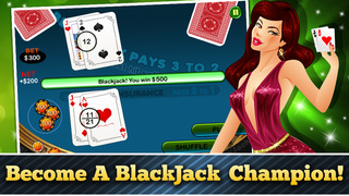 Lucky Black Jack Casino Card Shark Win Master Free screenshot 2